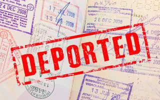 Отмена депортации (выдворения) в России как снять в 2020 году