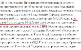 Получение паспорта после получения гражданства РФ в 2020 году