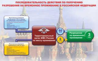 Квота на получение РВП в Российской Федерации на 2020 год