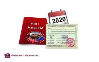 Миграционные квоты в Российской Федерации в 2020 году
