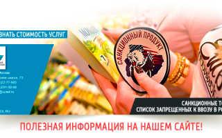 Санкционные продукты и запрещенные товары к ввозу в Россию