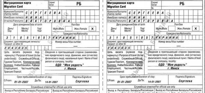 Миграционная карта для украинцев в 2020 году