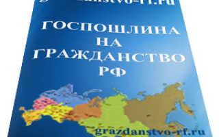 Госпошлина на гражданство Российской Федерации в 2020 году